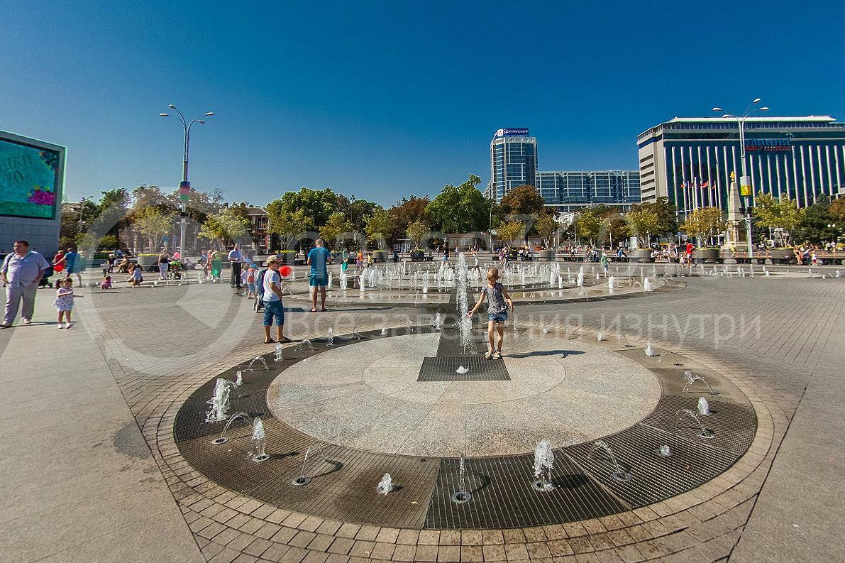 День города Краснодара 2015 г. поющий фонтан