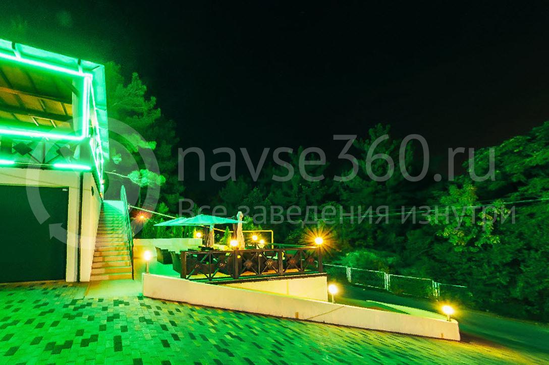 Отель Парк Хаус Дивноморское, летнее кафе, ночь