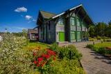 Онтарио, коттеджный поселок. Зеленый дом