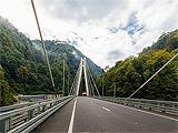 Совмещенная дорога Адлер – Красная Поляна, Вантовый мост на автомобильной дороге