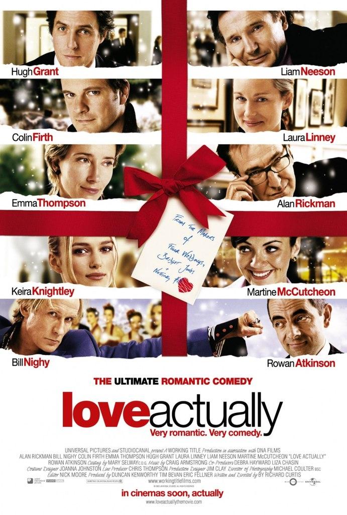"""Киносеанс """"Реальная любовь"""" (Love Actually) на английском языке"""