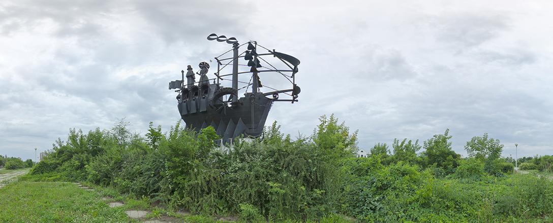 История Транспорта, скульптурная композиция